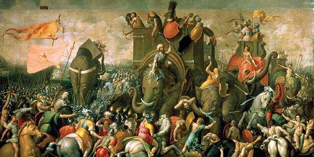 La derrota cartaginesa.