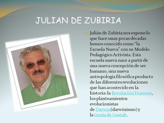 JULIAN  De  ZUBIRIA