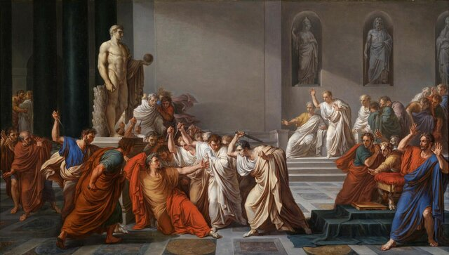Juli Cèsar és assassinat al 44 aC