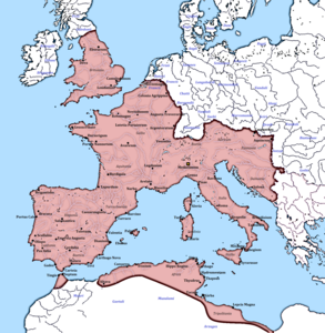 Començant a envair l'imperi romà occidental.