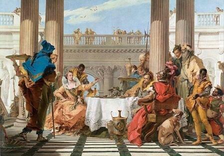 Octavi derrota a Marc Antoni i a Cleopatra a la Batalla d'Actium