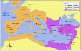 Mort de Teodosi I i es divideix el imperi
