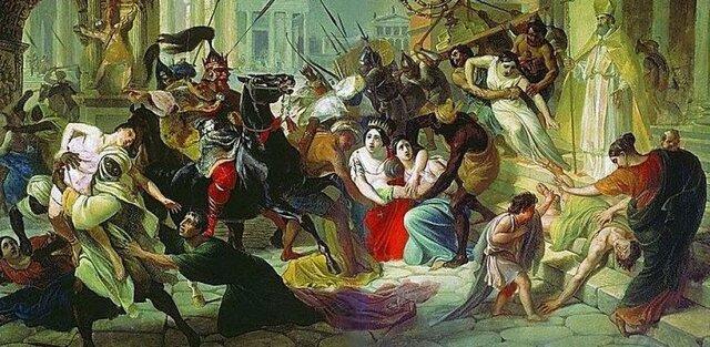 Començen a envair l'imperi romà d'occident