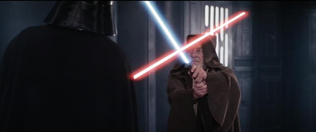 Obi-wan and Darth Vader Have A Lightsaber Duel