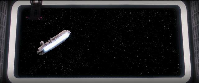 They Escape the Death Star in the Millennium Falcon