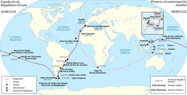 """Muerte de Magallanes y expedicion hacia el """"Maluco"""""""