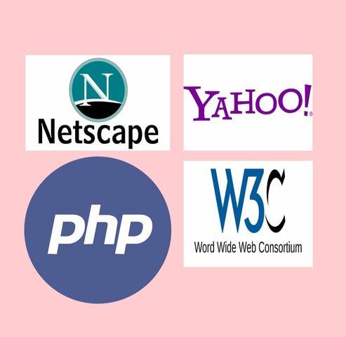 NETSCAPE, YAHHO!, PHP, WORLD WIDE WEB CONSORTIUM