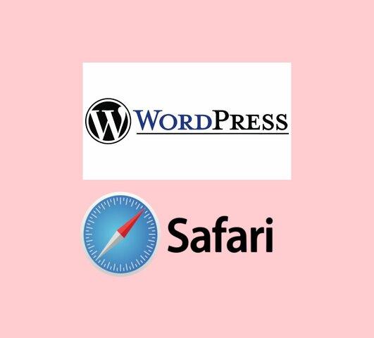 WORDPRESS, SAFARI