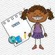 61580616 niña de dibujos animados icono estudiante de diseño de ilustración vectorial