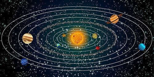 Todos los planetas giran alrededor del Sol