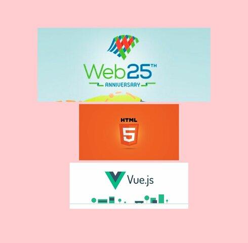ANIVERSARIO 25 DE LA WEB, HTML 5, VUE.JS