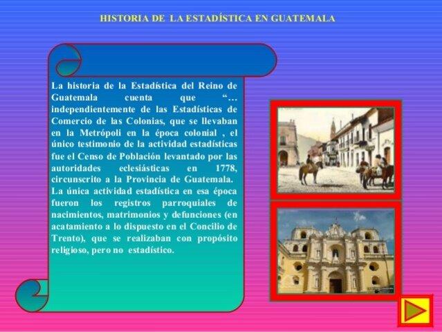 """Historia de la Estadística de Guatemala"""