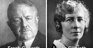 Frank Gilbreth y su esposa Lillian Gilbreth