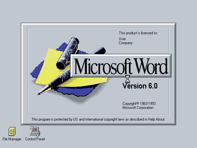3 Word 6.0