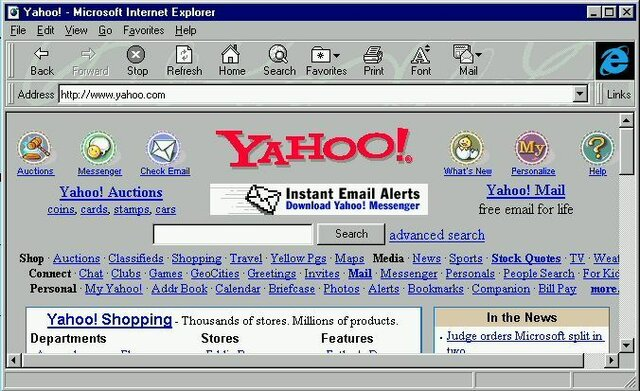 Netscape y Yahoo