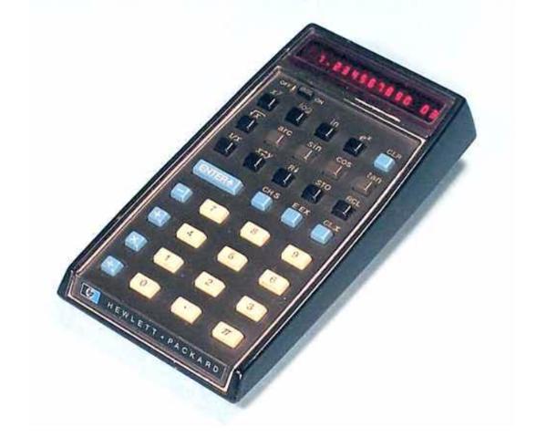 La primer calculadora científica