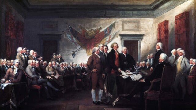 The United States of America becomes independent from England