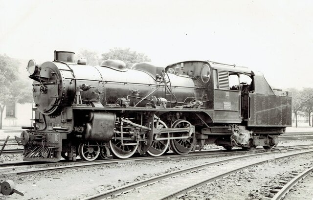First steam locomotive in the Iberian Peninsula