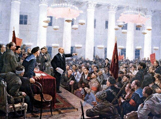 The Russian Revolution establishes a socialist regime (USSR)
