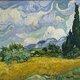 Wheat field with cypresses 1889 van gogh met