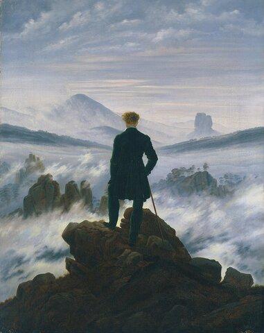 Viandante sul mare di nebbia (Friedrich)