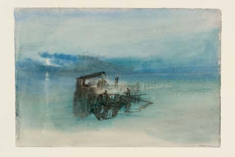 Pescatori sulla laguna. Chiaro di luna (Turner)