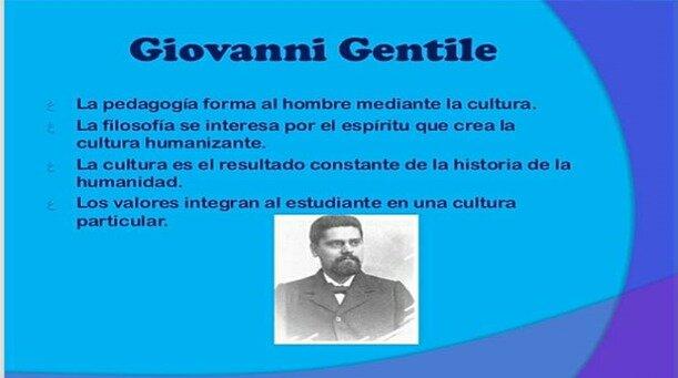 Siglo XIX- Giovanni Gentile
