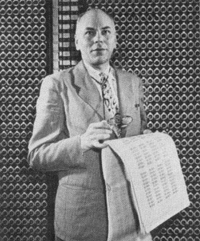 25 de febrero de 1937 Calculadora a base de reles electromagnéticos