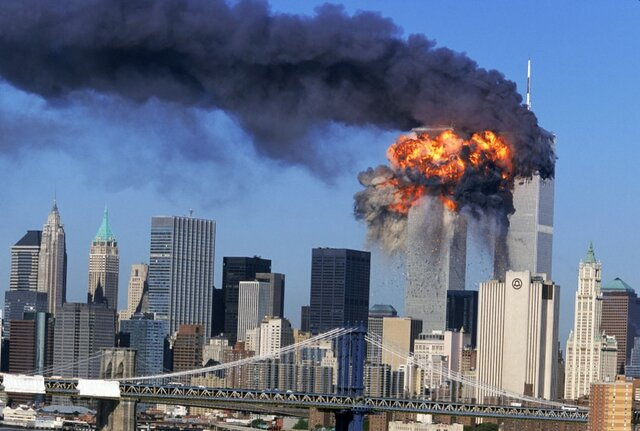 Attack on the Twin Towers in New York