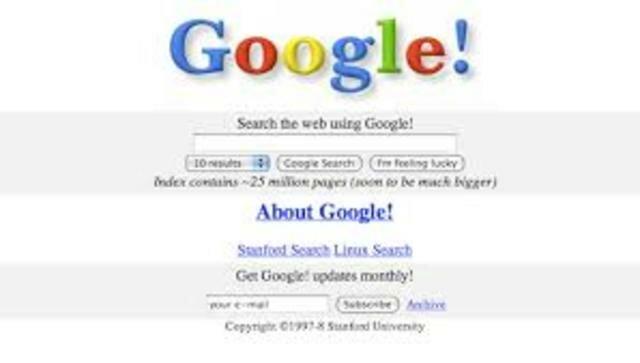 1997. Buscador Google. Google Inc.