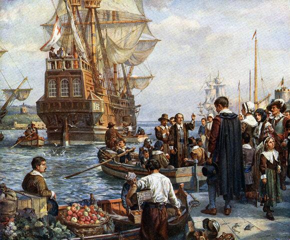 when the pilgrims left England