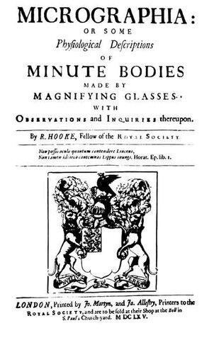 Libro de Robert Hooke