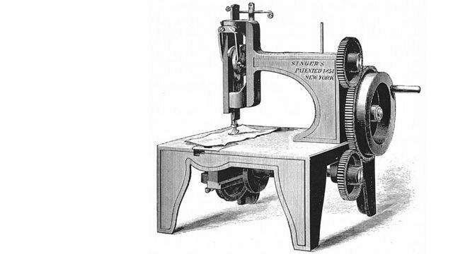 Invención de la máquina  de coser