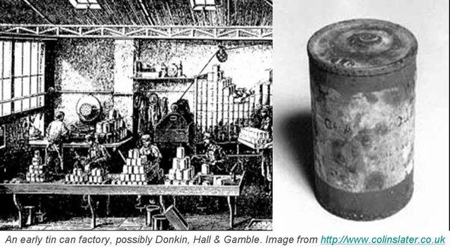 Enlatados en envases de  plomo