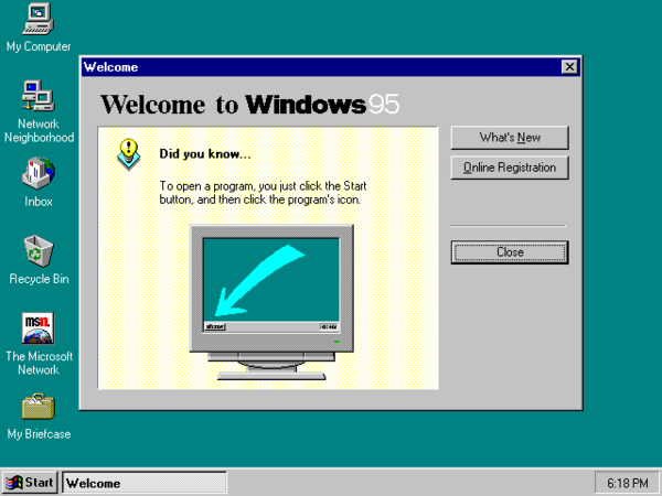 Microsoft Introduces Windows 95