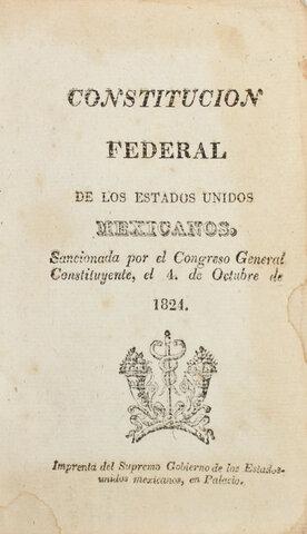 Se promulgó la Constitución Federal de los Estados Unidos Mexicanos,