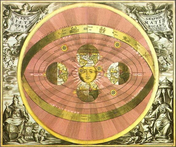 Copérnico propone el modelo heliocéntrico del sistema solar.