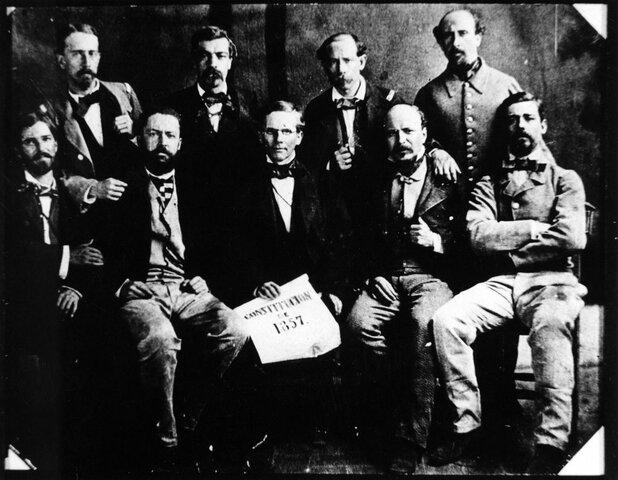 Promulgación de la Constitución Federal de los Estados Unidos Mexicanos 1857