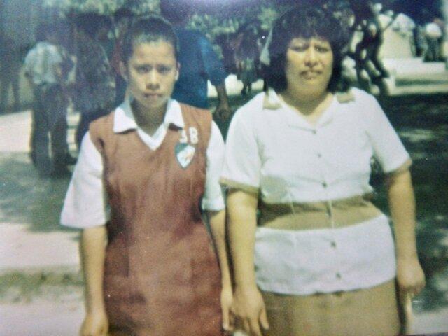 Siempre fui muy a fin a mi madre, ella siempre estuvo conmigo en todos los eventos escolares