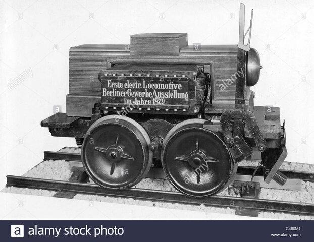 Primeros sistemas de tracción eléctrica en trenes