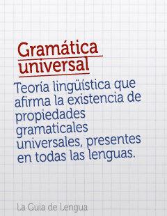 TEORÍA DE LA GRAMÁTICA UNIVERSAL