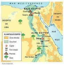 ubicación geográfica de Egipto 3300 a. C