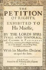 Inglaterra.- PETITION OF RIGHTS.