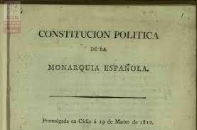 España.- CONSTITUCIÓN DE CÁDIZ