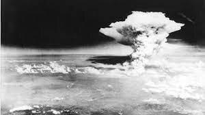 Hiroshima and Nagasaki atomic bombs explode