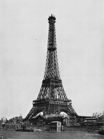 The Eiffel Tower, a sample of the iron architecture of the s. XIX.
