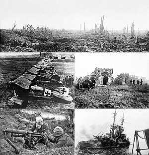(1914-1918) World War I ends with more than 12 million dead.