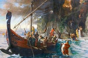 First Viking Attack on England