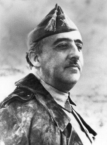 (1939-1975) Military dictatorship of Francisco Franco in Spain.