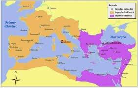 mperi (Imperi d'Occident): Divisió de l'Imperi